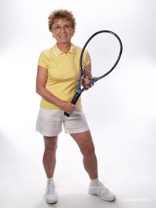 Carole with tennis