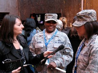 Interviewing military