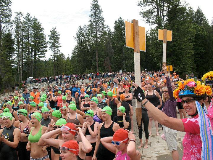 Breast cancer triathlon photo