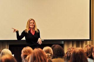 Kathy LeMay at conference